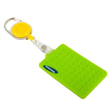 Plastic easy pull clasp,Retractable Lanyard ID Badge